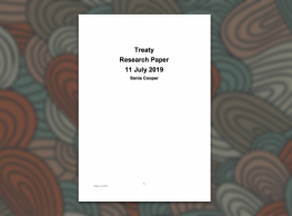 New Document – Treaty Research Paper July 2019