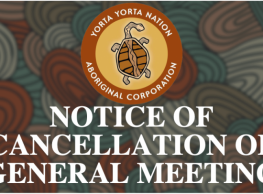 Notice of Cancellation of General Meeting
