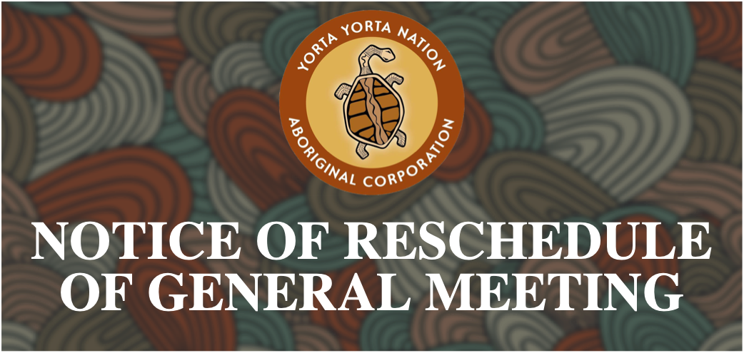 General Meeting Rescheduled