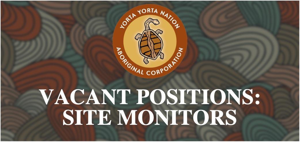 Vacancy: Cultural Heritage Site Monitors